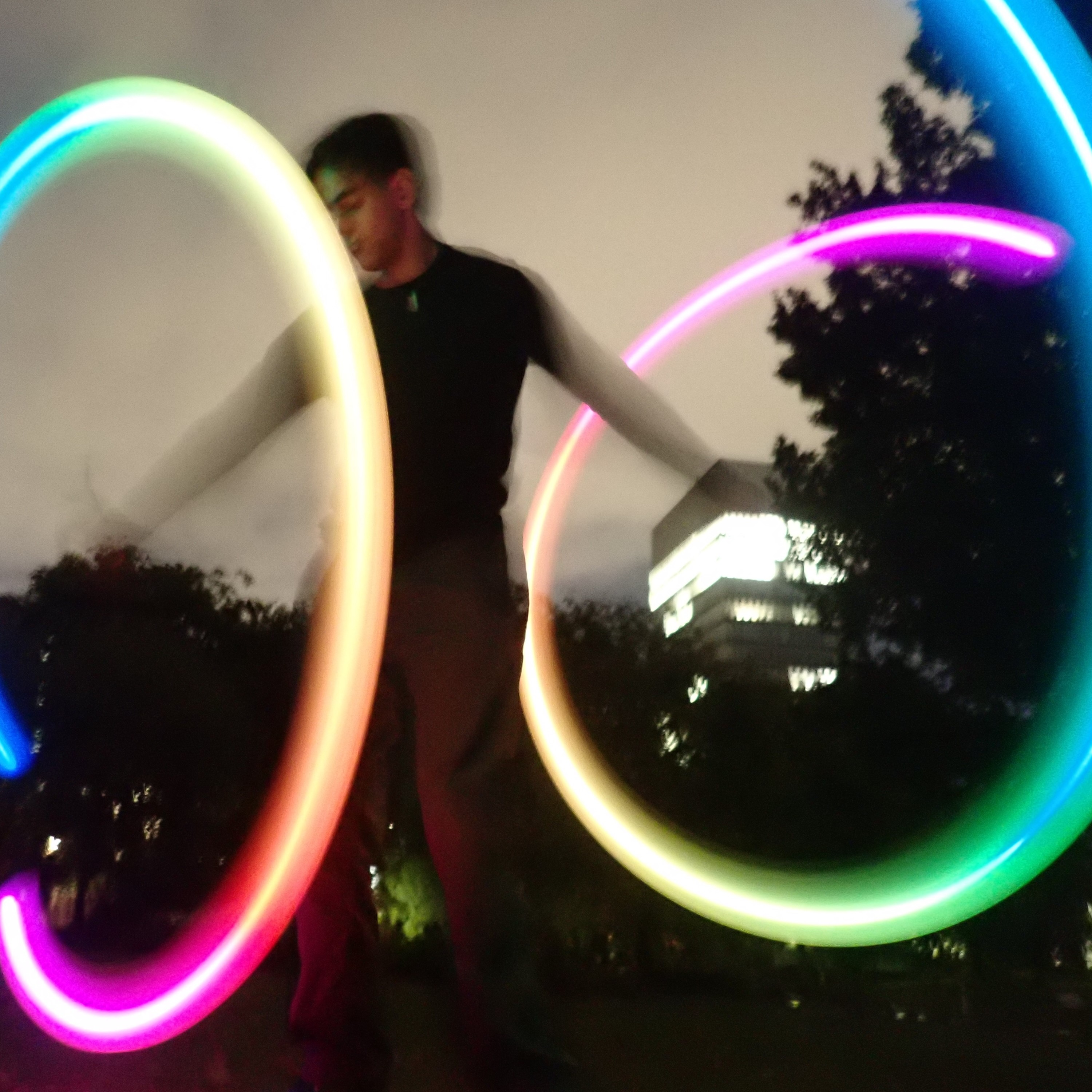 Image of LED Poi spinning